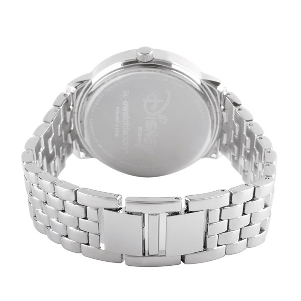 Disney Princess Belle Beauty and the Beast Womens Silver Tone Bracelet Watch-Wds000231