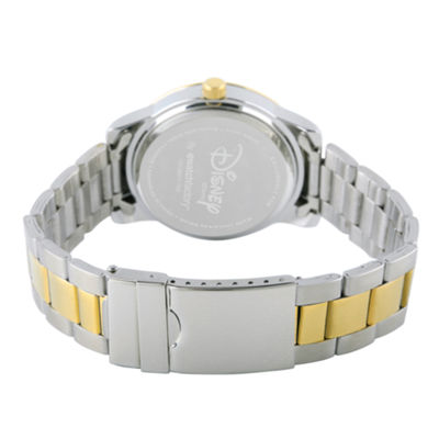 Disney Princess Beauty and the Beast Womens Two Tone Bracelet Watch-Wds000234