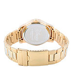 Disney Beauty and the Beast Womens Gold Tone Stainless Steel Bracelet Watch-Wds000235