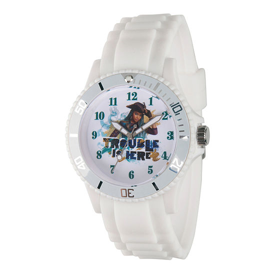 Disney Descendants Womens White Strap Watch-Wds000244