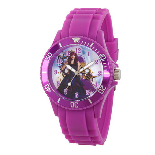 Disney Descendants Womens Purple Strap Watch-Wds000246