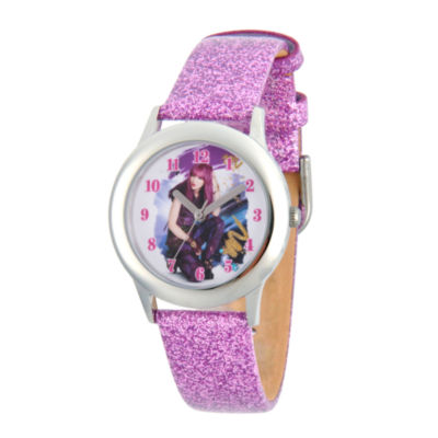 Disney Descendants Girls Purple Strap Watch-Wds000247