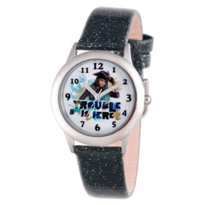 Disney Descendants Girls Black Strap Watch-Wds000250