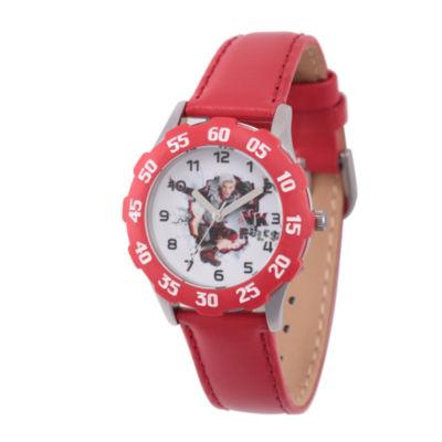 Disney Descendants Boys Red Strap Watch-Wds000251