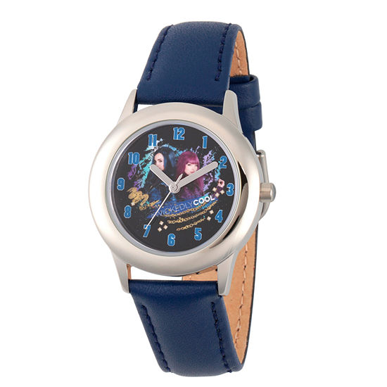 Descendants Boys Blue Leather Strap Watch-Wds000252