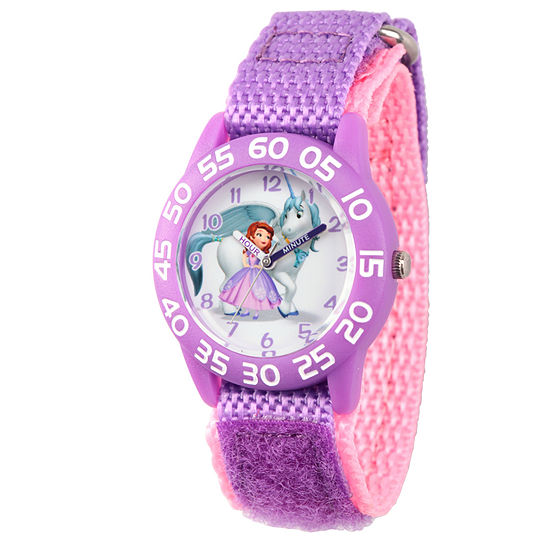 Disney Collection Sofia The First Girls Purple Strap Watch-Wds000264