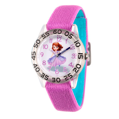 Disney Princess Sofia The First Girls Purple Strap Watch-Wds000265