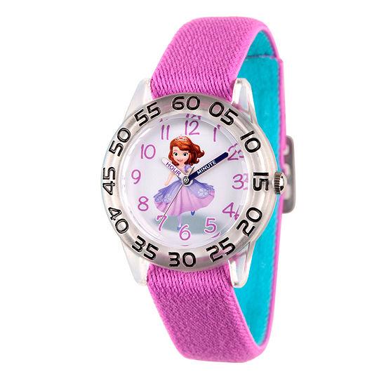 Disney Sofia The First Girls Purple Strap Watch-Wds000265