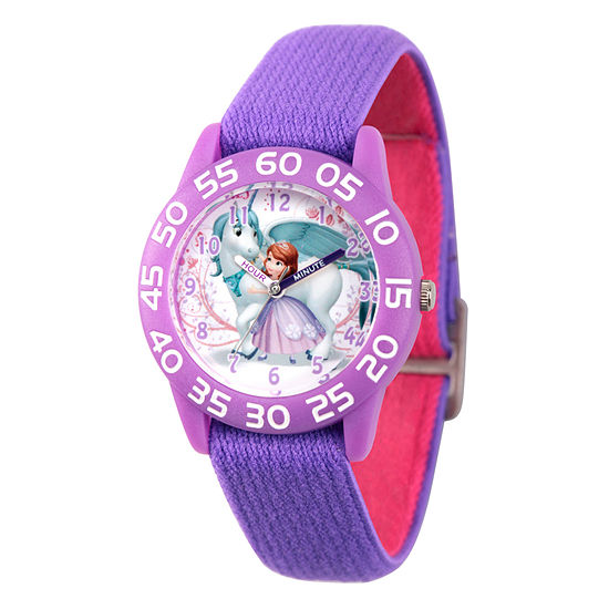 Disney Sofia The First Girls Purple Strap Watch-Wds000267