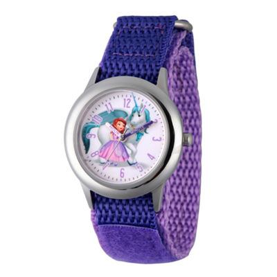 Disney Princess Sofia The First Girls Purple Strap Watch-Wds000268
