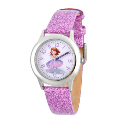 Disney Princess Sofia The First Girls Purple Strap Watch-Wds000269