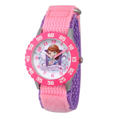 Disney Princess Sofia The First Girls Pink Strap Watch-Wds000270