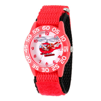 Disney Mickey Mouse Boys Red Strap Watch-Wds000273