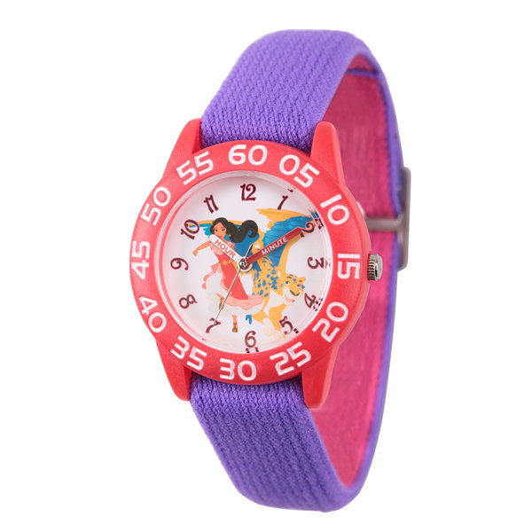 Disney Elena of Avalor Girls Purple Strap Watch-Wds000274