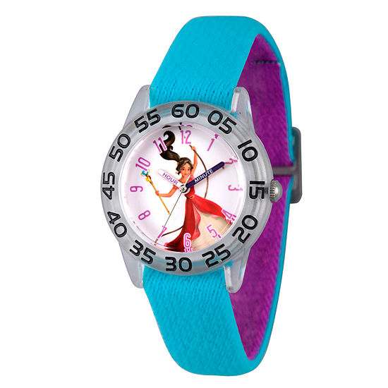Disney Elena of Avalor Girls Blue Strap Watch-Wds000276
