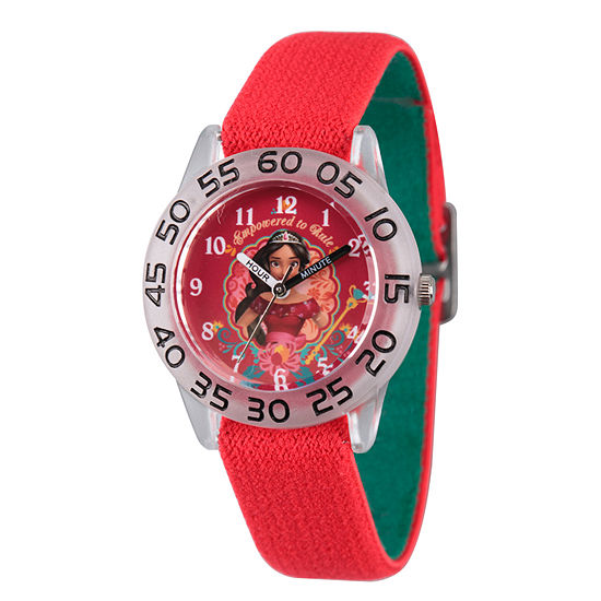 Disney Collection Elena of Avalor Girls Red Strap Watch-Wds000277