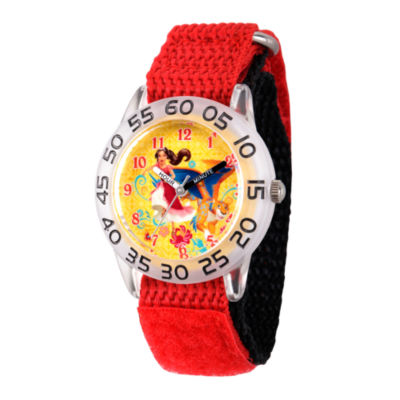 Disney Elena of Avalor Girls Red Strap Watch-Wds000278