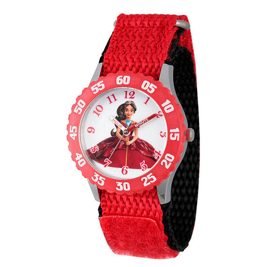 Disney Collection Elena of Avalor Girls Red Strap Watch-Wds000280