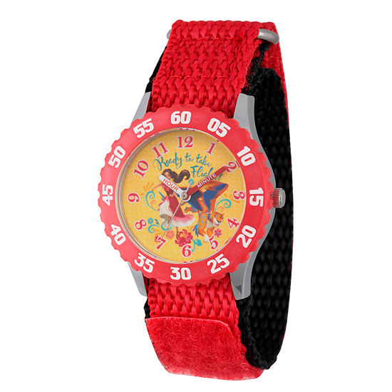 Disney Elena of Avalor Girls Red Strap Watch-Wds000283