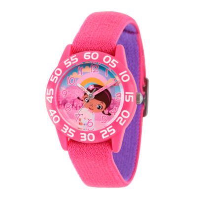Disney Doc McStuffins Girls Pink Strap Watch-Wds000284