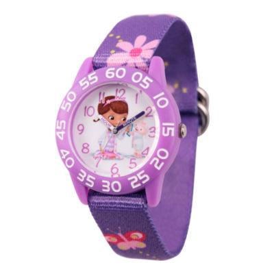 Disney Doc McStuffins Girls Purple Strap Watch-Wds000287