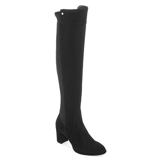 ac88809fe4e Liz Claiborne Womens Leyla Over the Knee Boots Block Heel Zip - JCPenney