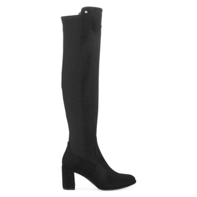 Liz Claiborne Womens Leyla Over the Knee Boots Block Heel Zip