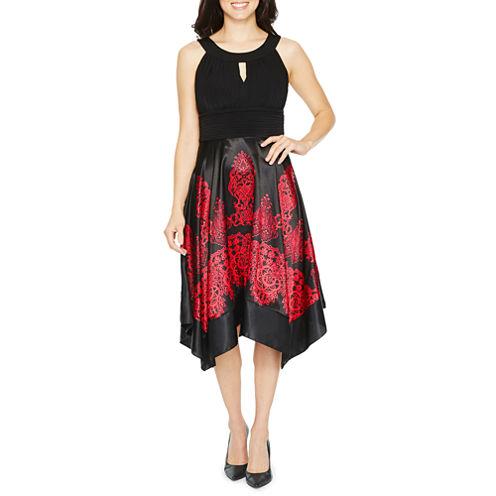Melrose Sleeveless Pattern Fit & Flare Dress