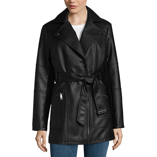 Miss Gallery Belted Midweight Motorcycle Jacket