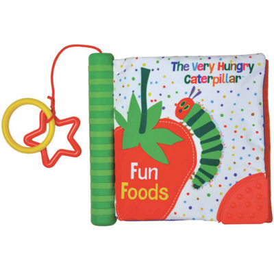 "Kids Preferred Eric Carle ""Fun Foods"" Teether Spine Soft Book Interactive Toy - Unisex"