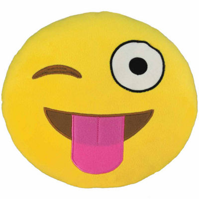 Kids Preferred Emoji Silly Wink Large Pillow Plush Doll