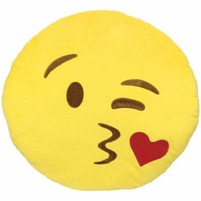 Kids Preferred Emoji Kiss Large Pillow Plush Doll