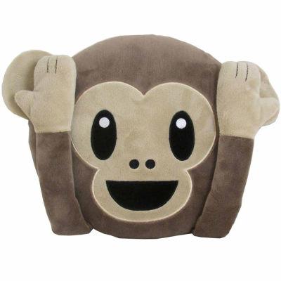 Kids Preferred Emoji Monkey Large Pillow Plush Doll