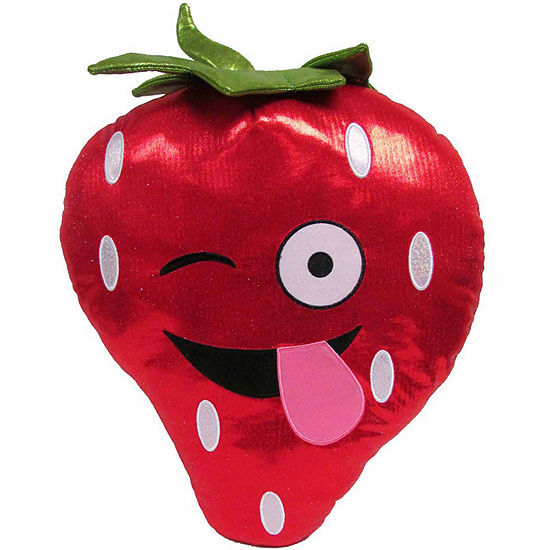 Kids Preferred Emoji Strawberry Large Pillow Plush Doll