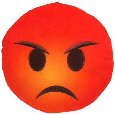 Kids Preferred Emoji Angry Face Large Pillow Plush Doll