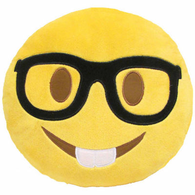 Kids Preferred Emoji Nerd Large Pillow Plush Doll