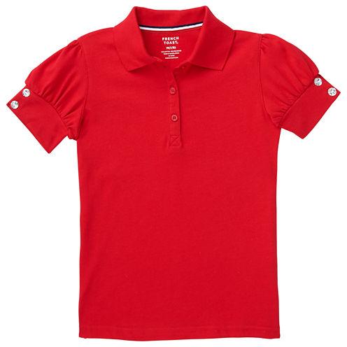 French Toast Short Sleeve Jersey Polo Shirt - Preschool Girls
