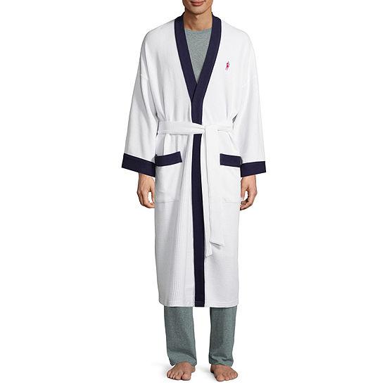 Jockey® Waffle Long Sleeve Kimono Robes-Big
