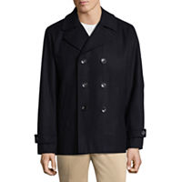 Deals on Claiborne Wool Blend Peacoat