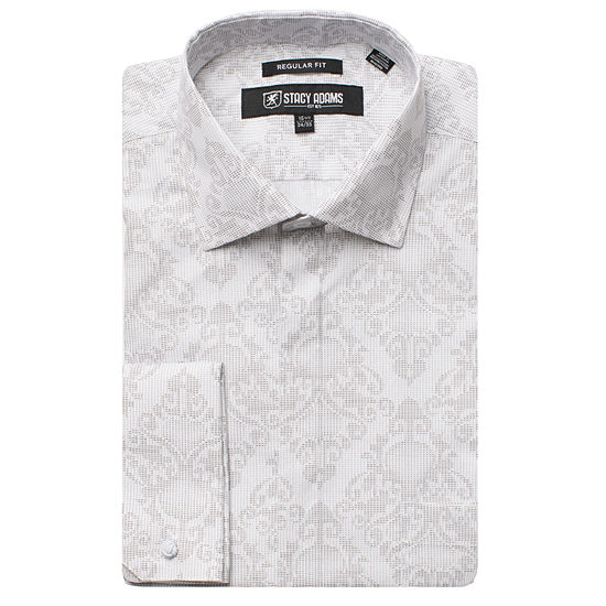 Stacy Adams Mens Point Collar Long Sleeve Dress Shirt