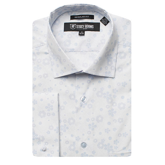 Stacy Adams Mens Point Collar Long Sleeve Dress Shirt