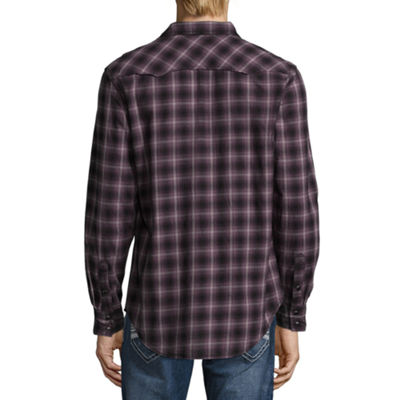 Decree Long Sleeve Ombre Button-Front Shirt