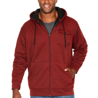 Zoo York Hooded Midweight Fleece Jacket - Big and Tall