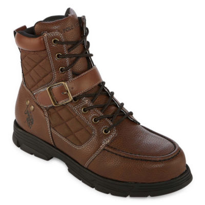 Us Polo Assn. Mens Braydon Lace Up Boots Buckle