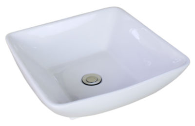 American Imaginations Above Counter Ceramic Square Vessel Sink