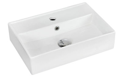American Imaginations Wall Mount Ceramic Rectangular Vessel Sink