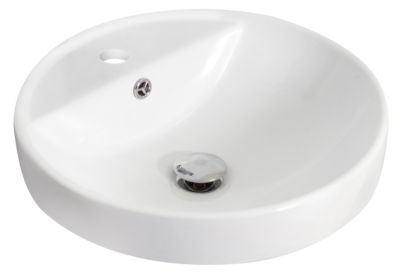 American Imaginations W Drop In Ceramic Round Vessel Sink