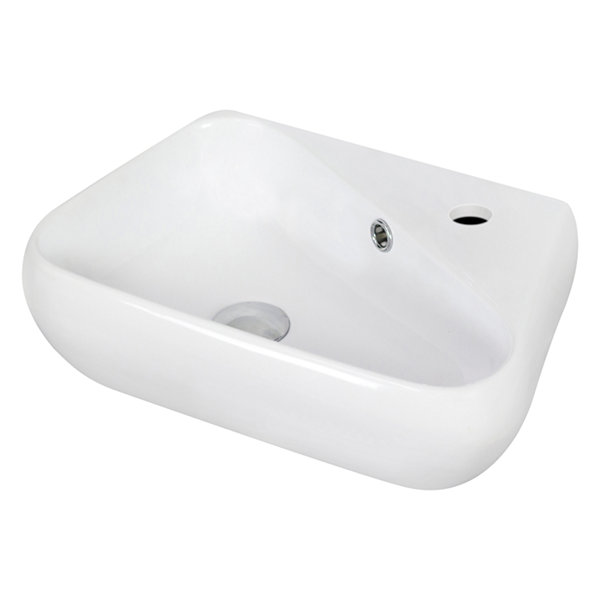 American Imaginations Wall Mount Ceramic Irregular Vessel Sink