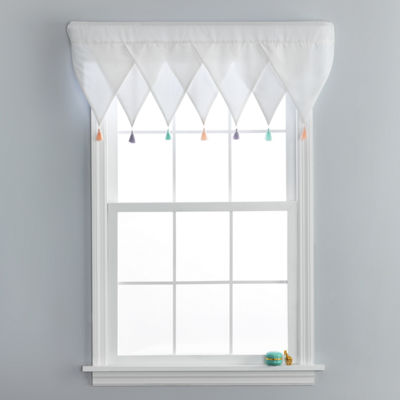 Frank And Lulu Tassel Party Rod-Pocket Tailored Valance