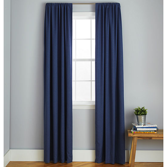 Frank And Lulu Peyton Rod-Pocket Curtain Panel